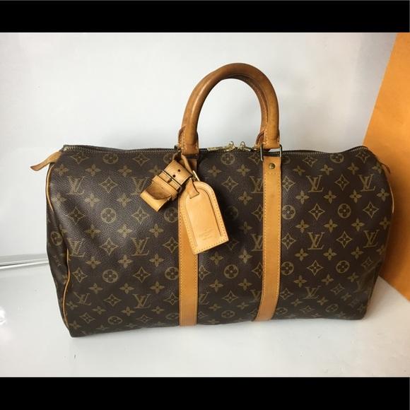 1d8129a6e640 Louis Vuitton Handbags - 100% Authen Louis Vuitton 1990 Vintage Keepall 45